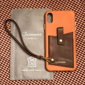 Accessories - NEW Cassenger Genuine Leather iPhone XS Max